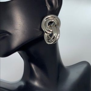 Silver plated twisted 8 earrings